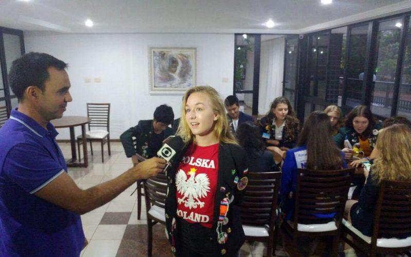 Polka w lokalnej telewizji w Brazylii